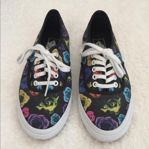 vans shoes low top floral poshmark